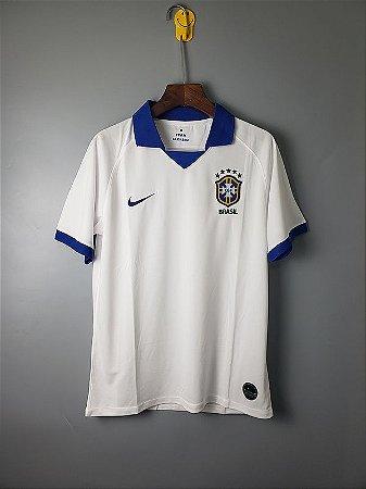 e2d85e5eac Camisa Branca e Azul da Seleção Brasileira 2019 Nike Copa America ...