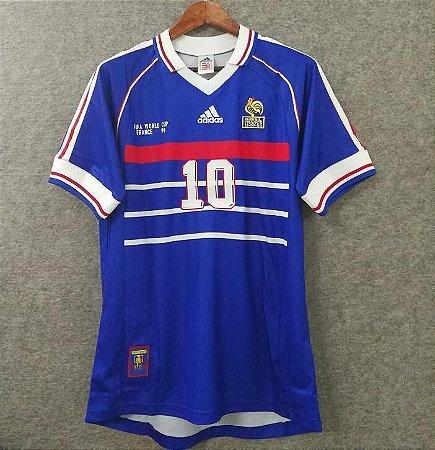 e470bcf256 Camisa da França Seleção Francesa 1998 Zidane Nº 5 Adidas - Loja ...