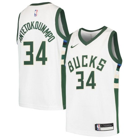 314c7f6ac0 Camiseta NBA Regata Swingman milwaukee Bucks antetokounmpo Branca ...