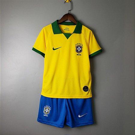 a9929c7d8b987 Camisa amarela da Seleção Infantil Brasileira 2019 Nike Copa America ...