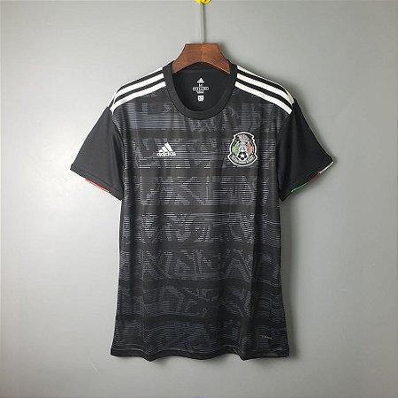 71fb44e28275c Camisa Seleção Mexico mEXICANA Preta 2019 Adidas - Loja Show de Bola ...