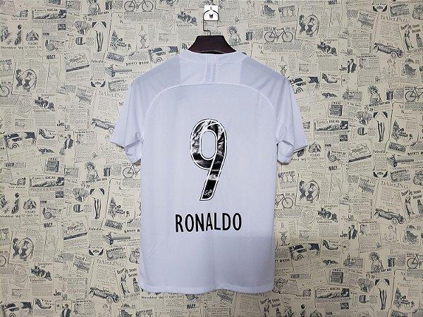 6005867b3b Frete Grátis. Código: XCWAVP78S. Camisa Corinthians 2019 - 2020 Branca  Ronaldo Nº 9 Nike