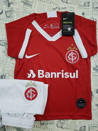 df819eb903035e Camisa do Internacional Infantil Vermelho 2019 - 20 Kit Short Nike ...