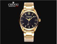 Relógio Masculino Chenxi 006A Quartz Preto Pulseira Dourada Impermeável