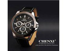Relógio Masculino Chenxi 019A Quartzo Pulseira Couro Preto