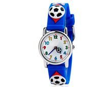 Relógio Infantil Bola Futebol Azul