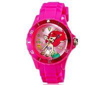 Relógio Infantil 5087G Ariel Alça Plástico Rosa