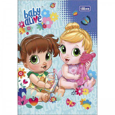 CADERNO BROCHURA 1/4 80 FOLHAS BABY ALIVE