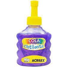 COLA CINTILANTE ACRILEX 95G LILAS