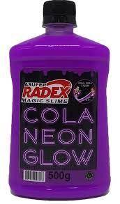 COLA GLOW SLIME ROXO NEON 500G - RADEX