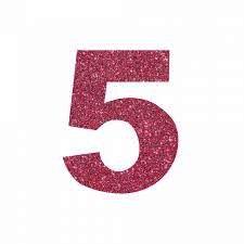 NUMERO ''5'' EM EVA BRILHO PINK