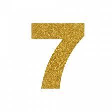 NUMERO ''7'' EM EVA BRILHO OURO