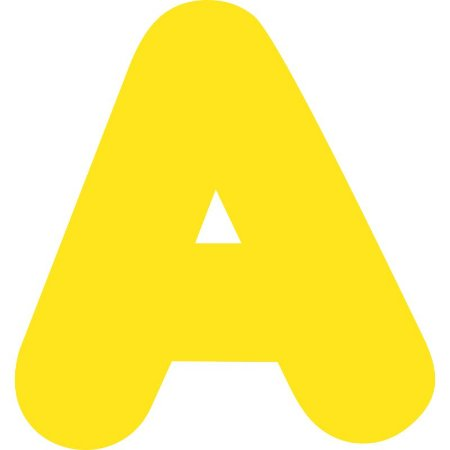 LETRA ''A'' EM EVA AMARELA