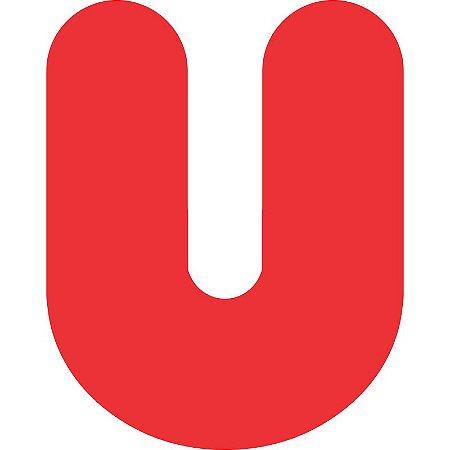 LETRA ''U'' EM EVA VERMELHA