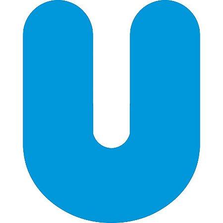 LETRA ''U'' EM EVA AZUL