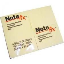Bloco Post-it Note Fix NF3 c/4 Amarelo 38x50