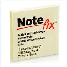 Bloco Post-it note Fix NF4 amarelo 76x76