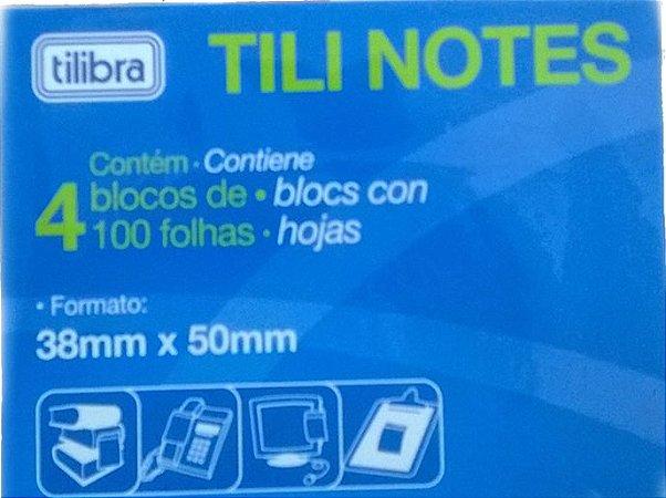 Bloco Tili Notes 38x50. Embalagem com 4 Blocos (100 folhas cada)
