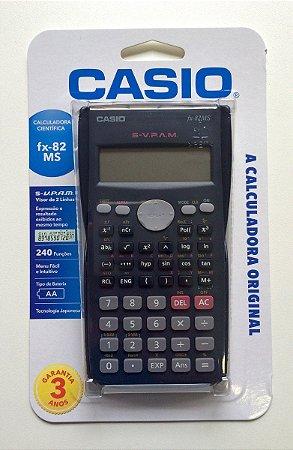 Calculadora CASIO 240 Funções -  fx-82 MS
