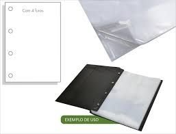 Envelope Plastico ACP - 4 Furos Médio Unid.