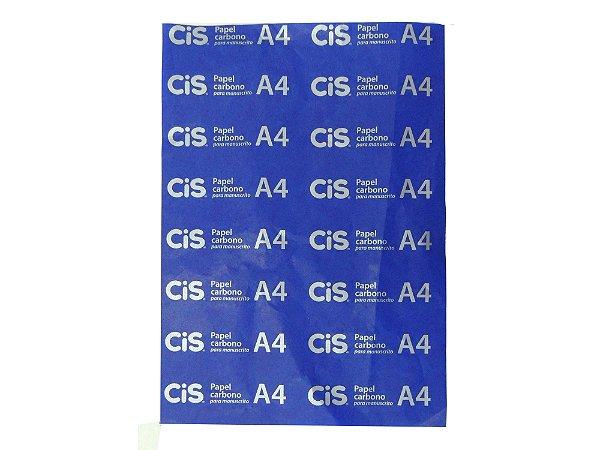 Carbono CIS Filme A4  - Azul Manuscrito Unid.