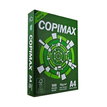 Papel Sulfite Copimax A4 75g 210x297mm Embalagem com 500 folhas Unid.