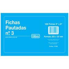 Ficha Pautada 5x8 N.3 Pct/100 Tilibra