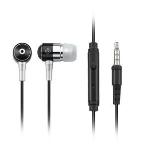 Fone de Ouvido Intra-Auricular Preto com Microfone Multilaser