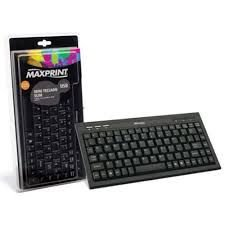 Mini Teclado Multimidia Slim USB Preto Maxprint - ...