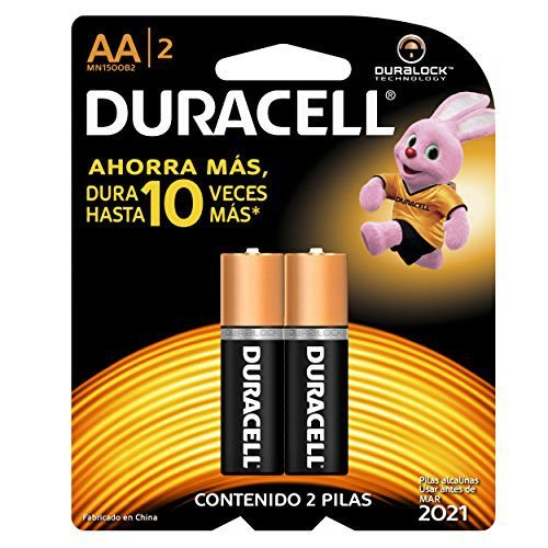 Pilha Alcalina Pequena AA X2 Duracell