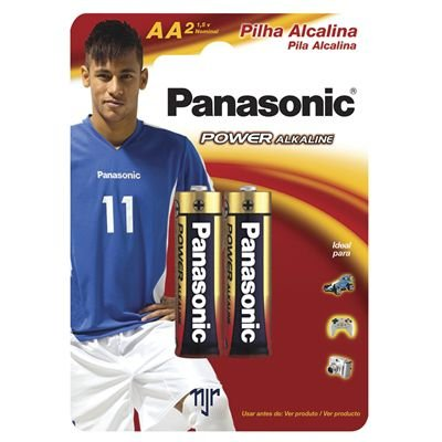 Pilha Alcalina Pequena AA Power Cartela com 02 .