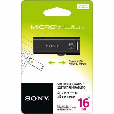 Pen Drive 16gb Preto - Sony - Usm16gr/b