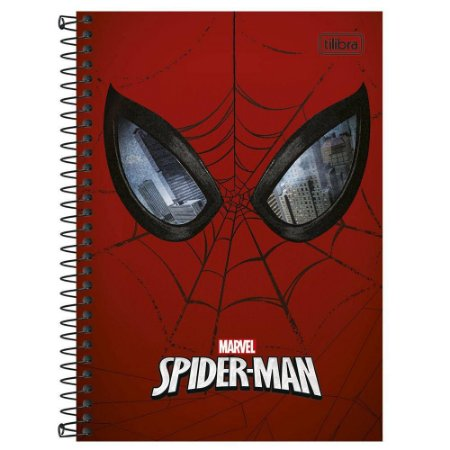 CADERNO ESPIRAL 1/4 CD.96FLS SPIDER MAN