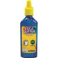 Cola Glitter Acrilex Escolar Azul