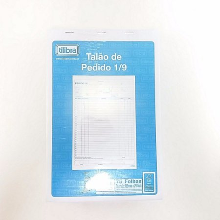 TALÃO DE PEDIDO 1/9 75F 200X308