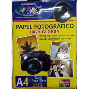 PAPEL FOTOGRAFICO A4 180G 50F GLOSSY OF PAPER