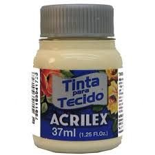 TINTA MARFIM P/TECIDO ACRILEX  POTE 37ML