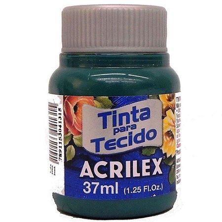 TINTA VERDE BANDEIRA P/TECIDO ACRILEX  POTE 37ML