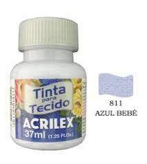 TINTA AZUL BEBE P/TECIDO ACRILEX POTE 37ML
