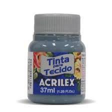 TINTA CINZA LUNAR P/TECIDO ACRILEX POTE 37ML