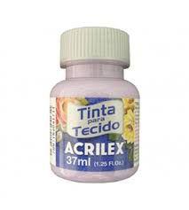 TINTA LILÁS BEBE P/TECIDO ACRILEX POTE 37ML