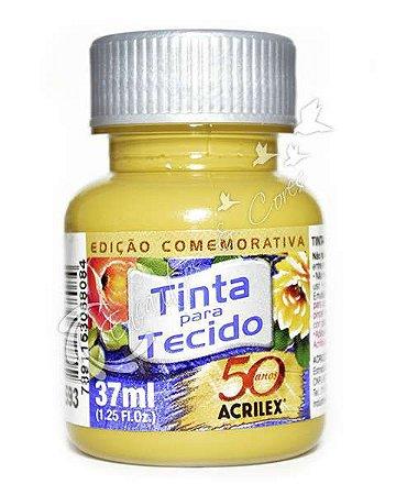 TINTA MOSTARDA P/TECIDO ACRILEX POTE 37ML