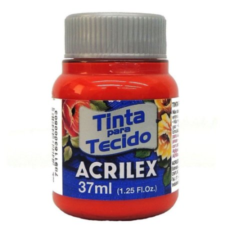 TINTA TANGERINA P/TECIDO ACRILEX POTE 37ML