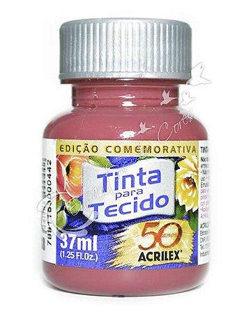 TINTA VERMELHO QUEIMADO P/TECIDO ACRILEX POTE 37ML