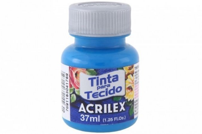 TINTA AZUL CERULEO P/TECIDO ACRILEX POTE 37ML