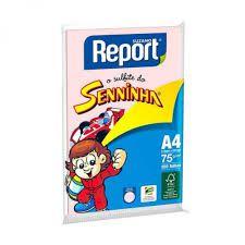 PAPEL SULFITE A4 100FLS REPORT ROSA