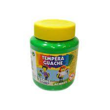 TINTA TEMPERA GUACHE 250 ML ACRILEX VERDE FOLHA
