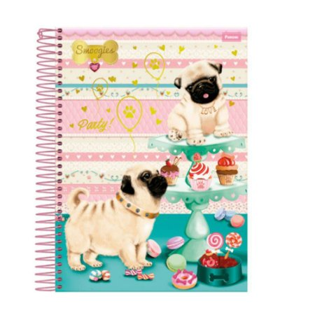 CADERNO UNIV.CD 10X1 SMOOGIES 200FLS