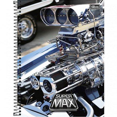 CADERNO UNIV.CD 10X1 SUPER MAX 200FLS