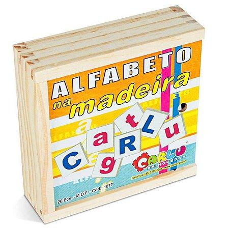 ALFABETO MADEIRA MDF - 26 PC - CARLU